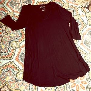 Black Torrid Tunic with cut outs